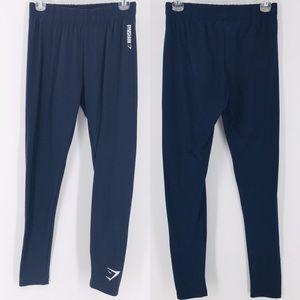 Gymshark Navy Blue Slim Workout Gym Pants Sz L